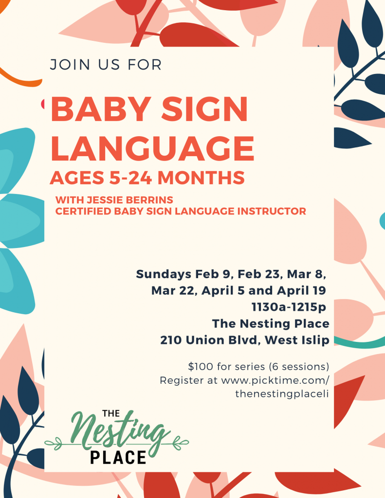 Baby and Toddler Sign Language Series West Islip Long Island