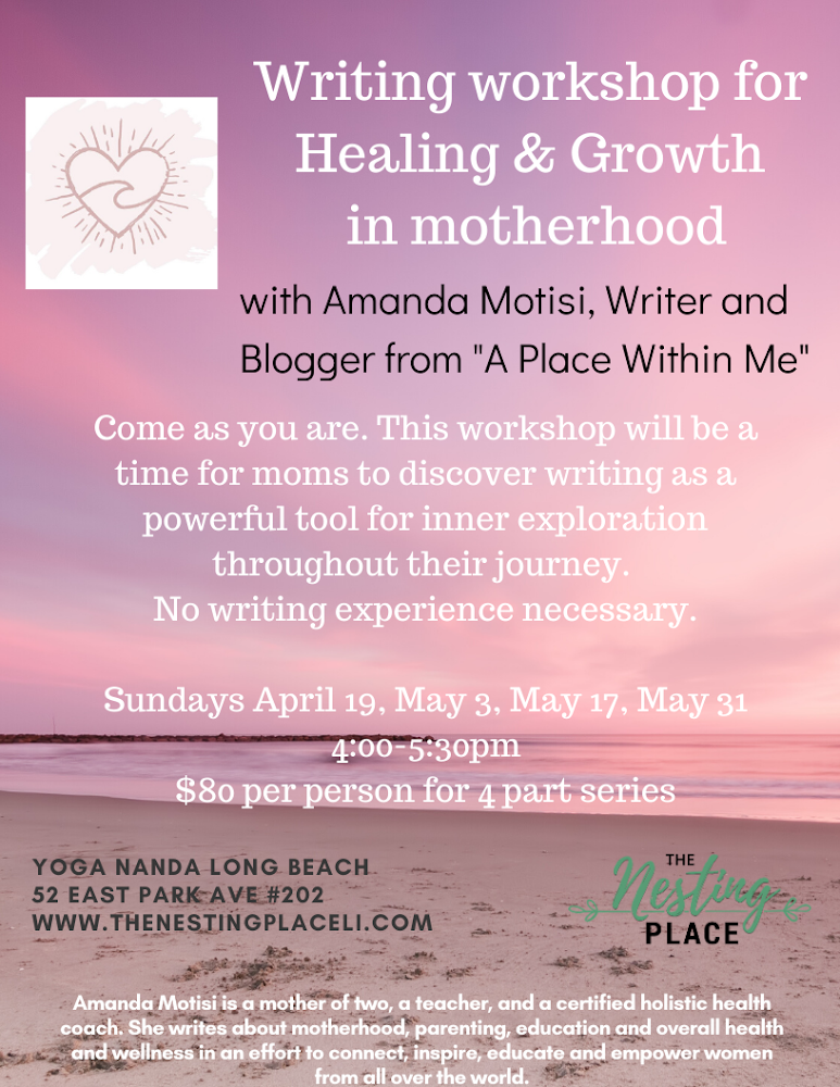 Writing Workshop for Mothers - Four Part Series in Long Beach Baby and Toddler Moms Long Island