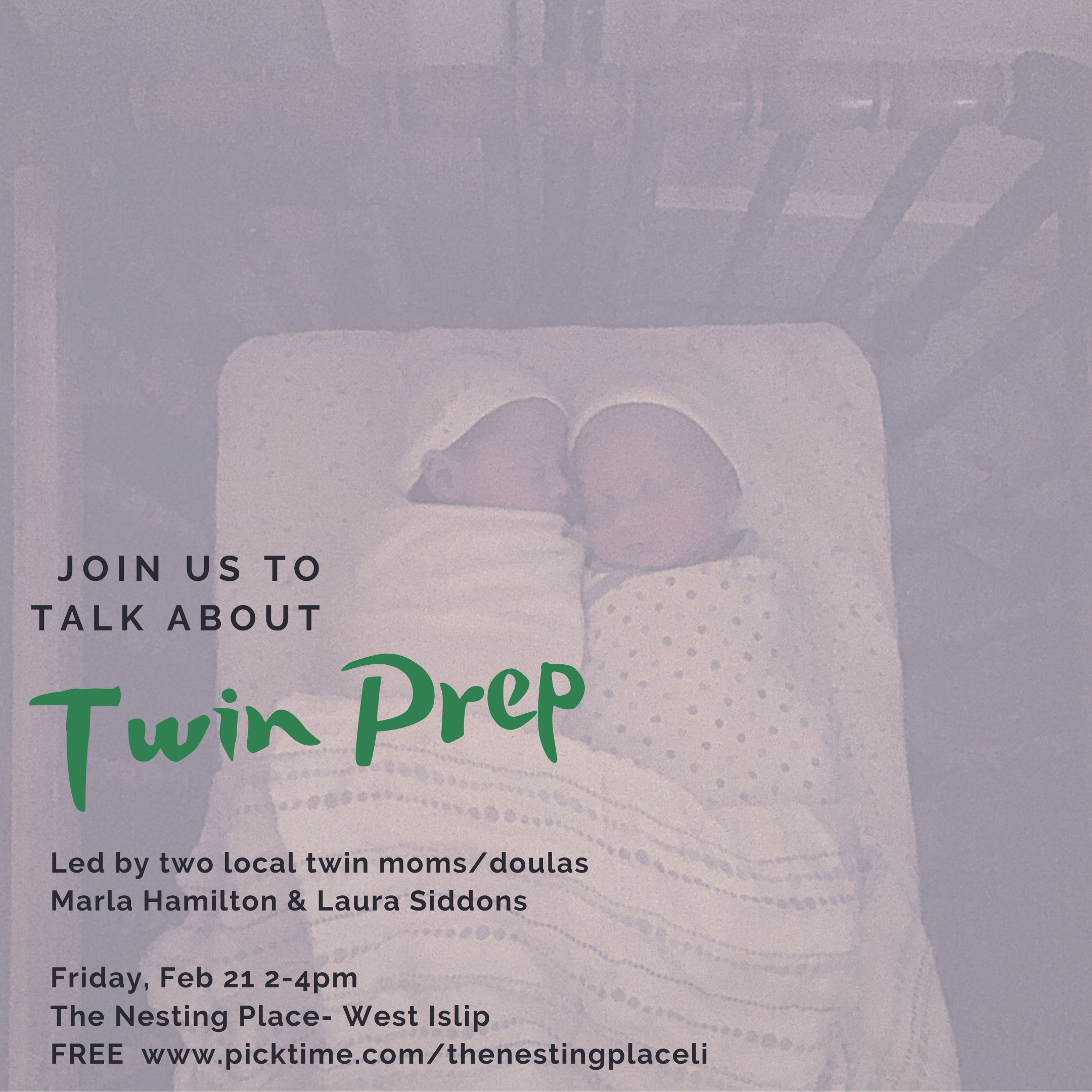Twin Prep Class for Pregnant Moms, Partners and Caregivers Long Island West Islip