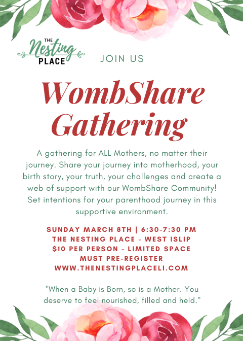 Womb Share Gathering for All Mothers to Share Their Journey West Islip Long Island Baby Mama Mom Motherhood Toddler