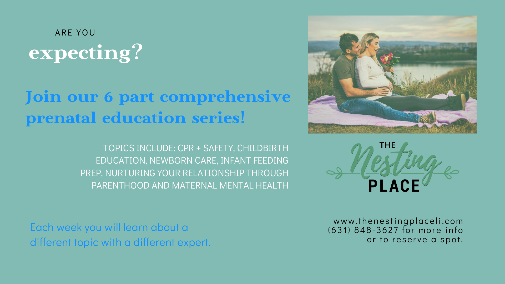 Six Part Prenatal Series - Including CPR, Childbirth Education, Newborn Care, Infant Feeding and Prep and More.  pregnant pregnancy CBE West Islip Long Island
